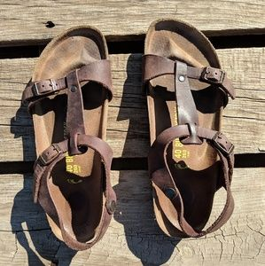 Birkenstock Larisa oil rubbed Habana brown leather